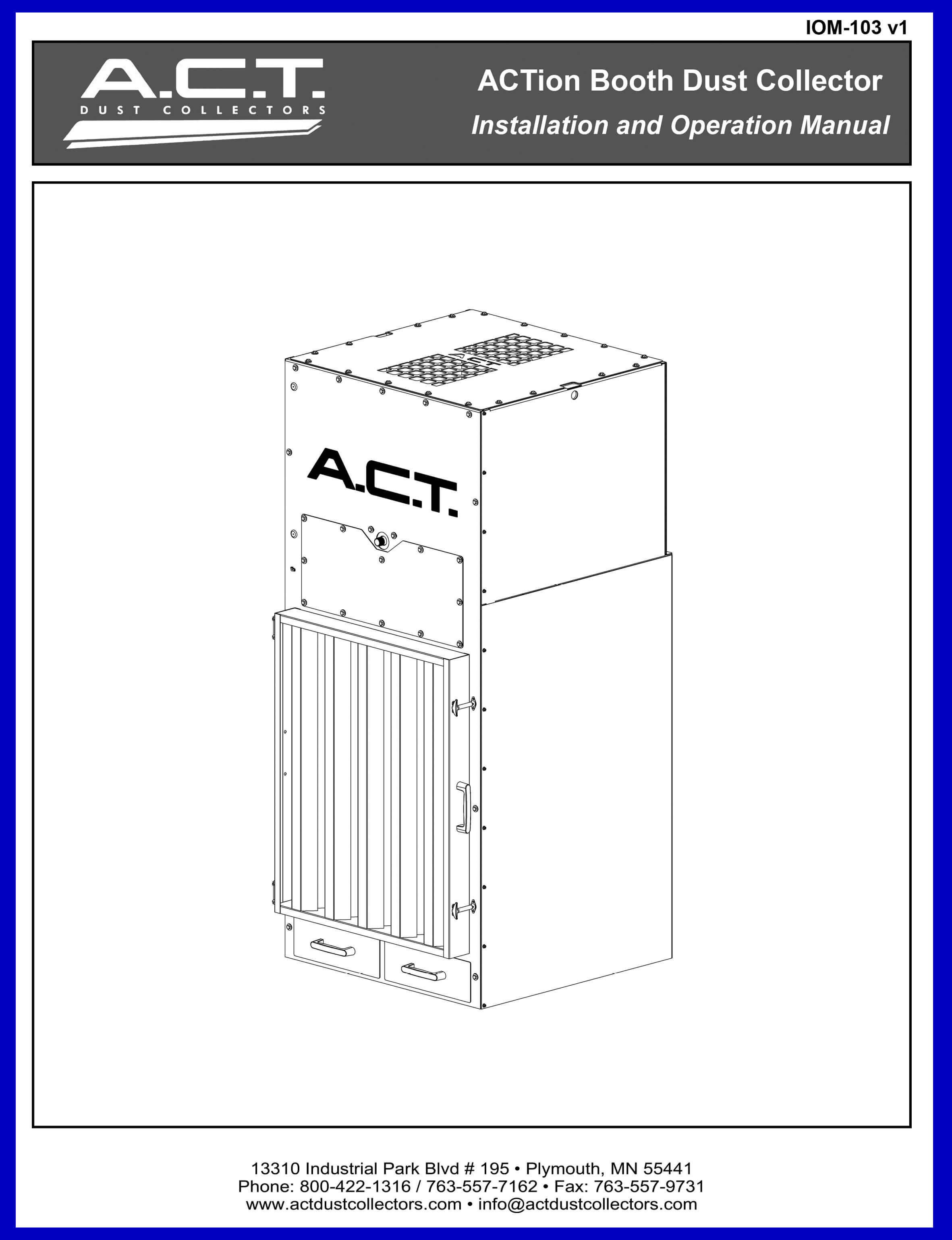 ACT ACTion Booth Collectors Manual Cover