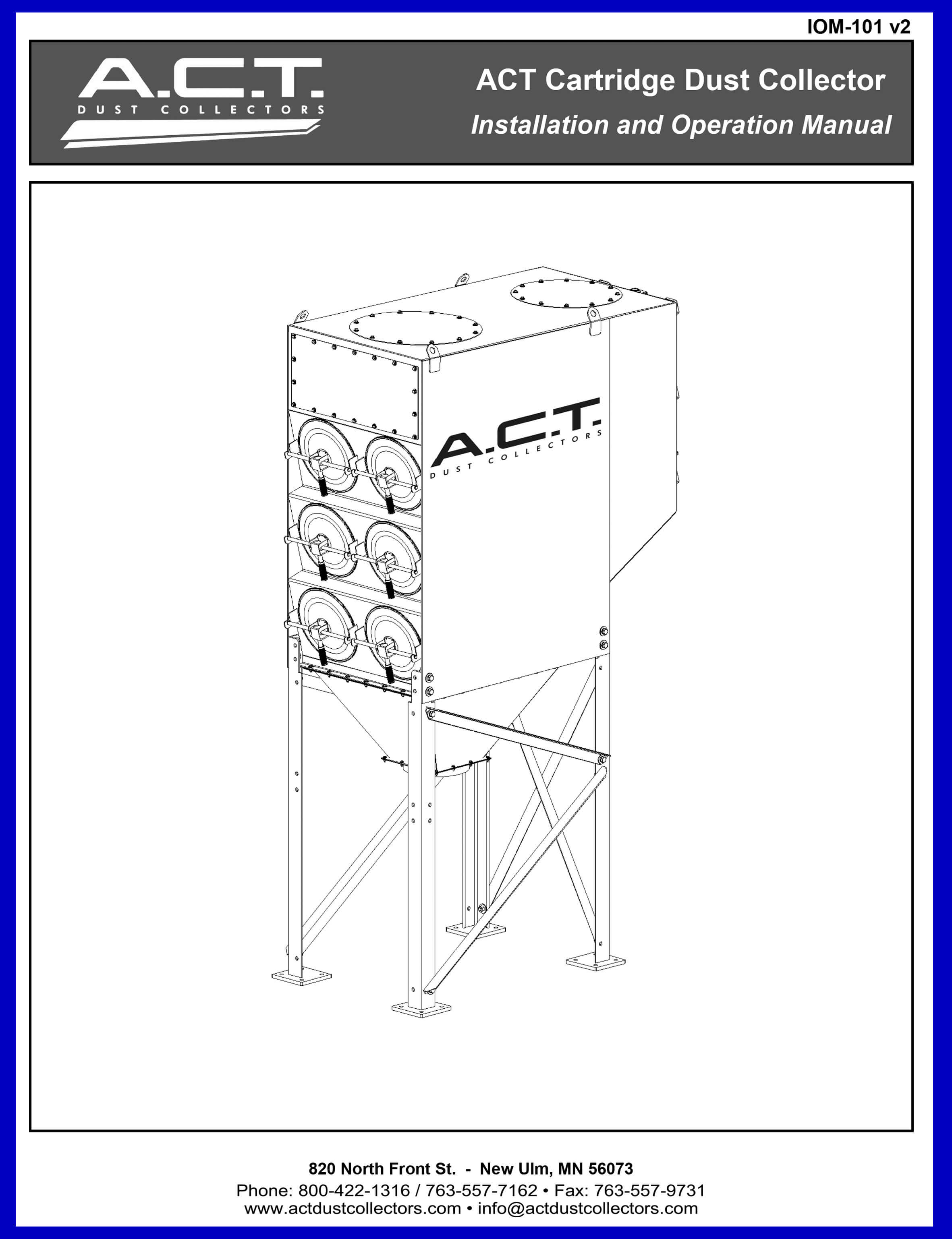 ACT Cartridge Dust Collectors Manual COVER