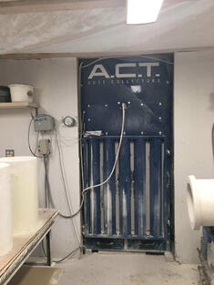 ACTino Booth Dust Collector installed for Grinding Dust