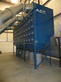 Metalworking Dust Collector Filters Large Volumes of Air at Metal Fabrication Shop