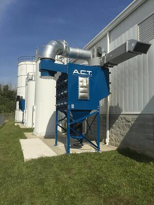 Industrial Dust Collector Installed Outdoors