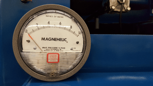 Magnehelic Gauge on Dust Collector