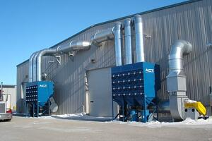 Fume Collector Outside of North Dakota Facility