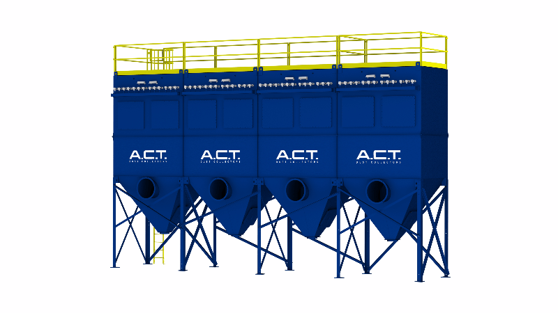 ACT TLM468-10 Baghouse Dust Collector - Thumbnail