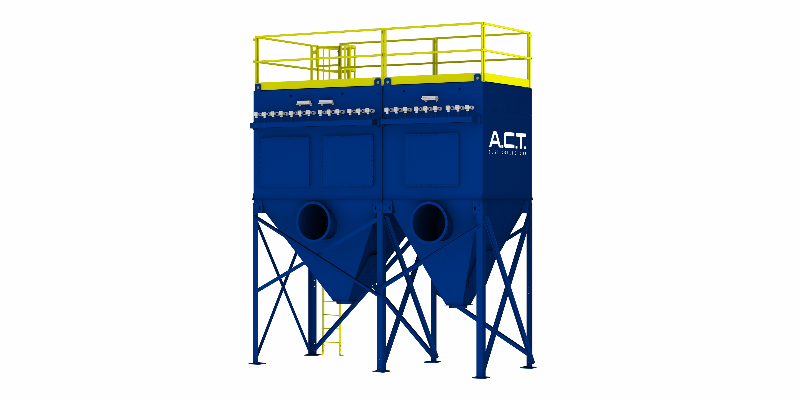 ACT TLM198-5 Baghouse Dust Collector - Thumbnail